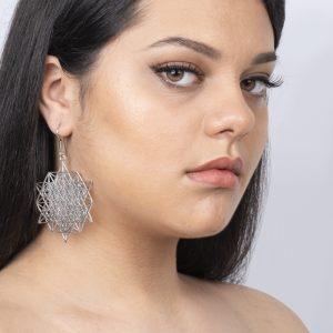 Boucles d'oreilles tétraèdre