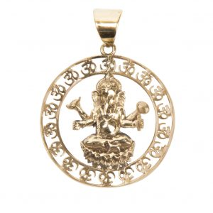 Pendentif  Aum Ganesh assis