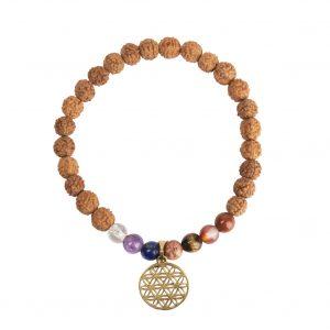 Bracelet fleur de vie 7 pierres semi précieuses 0