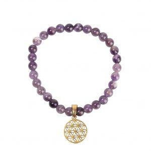 Bracelet fleur de vie pierre semi précieuse