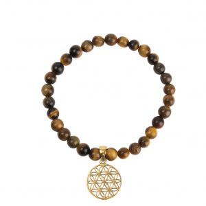 Bracelet fleur de vie pierre semi précieuse 0