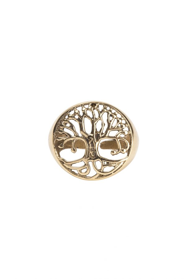Adjustable tree of life ring
