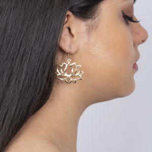 Boucles d'oreilles fleur de lotus