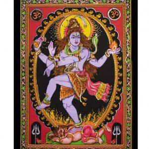 Dieu Shiva dansant avec sequins